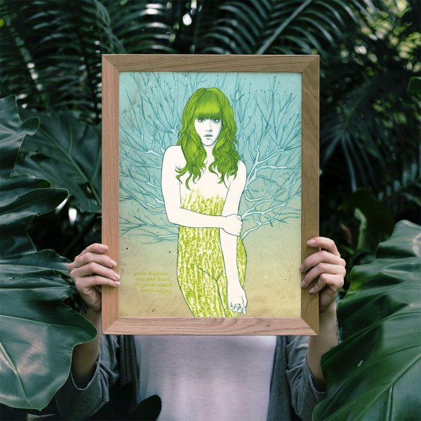 Malvina by Carin Marzaro - stampa artistica fine art giclée print