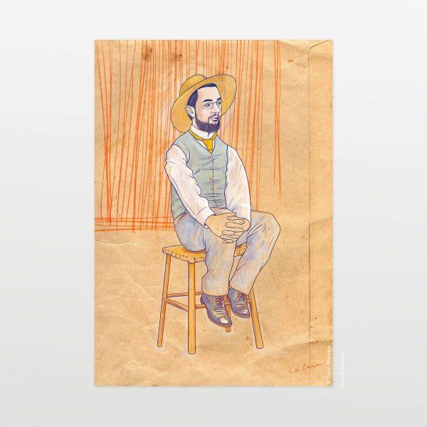 Portrait of Henri by Carin Marzaro - stampa artistica fine art giclée print