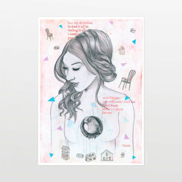 Celestine by Carin Marzaro - stampa artistica fine art giclée print