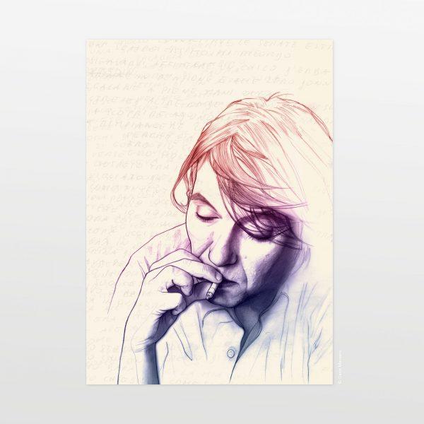 Faber by Carin Marzaro - stampa artistica fine art giclée print