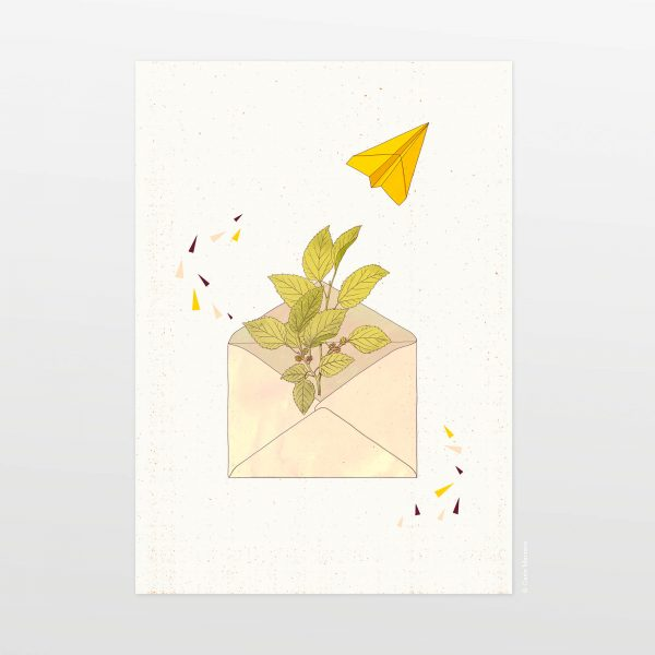 Letter from home (white) by Carin Marzaro - stampa artistica fine art giclée print