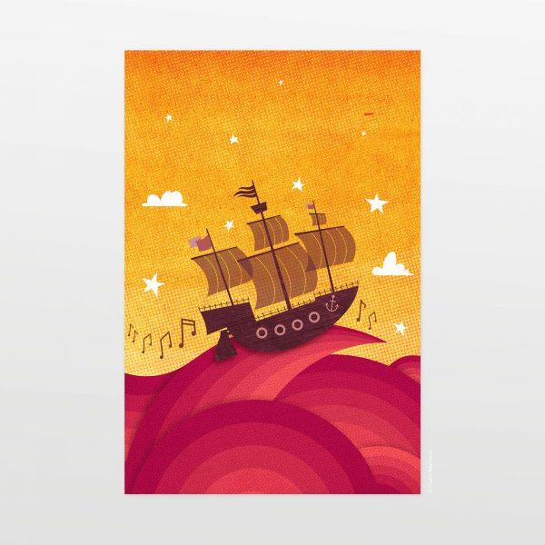 Veliero by Carin Marzaro - stampa artistica fine art giclée print