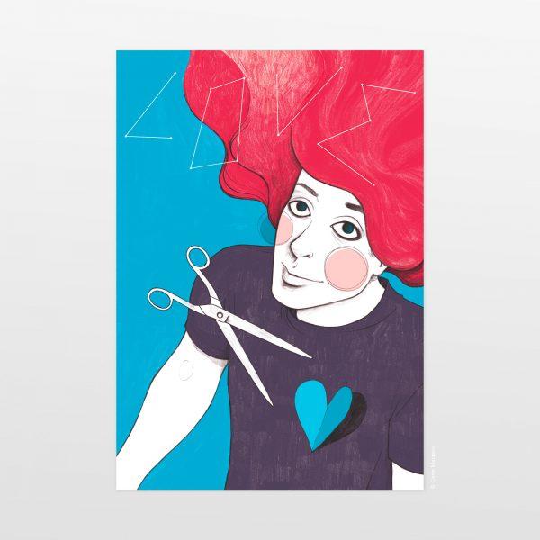 My Heart is a Liar by Carin Marzaro - stampa artistica fine art giclée print
